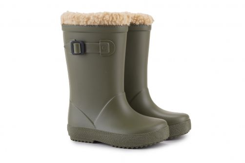 Igor---Rainboots-for-children---Splash-Euri-Borreguito---Kaki