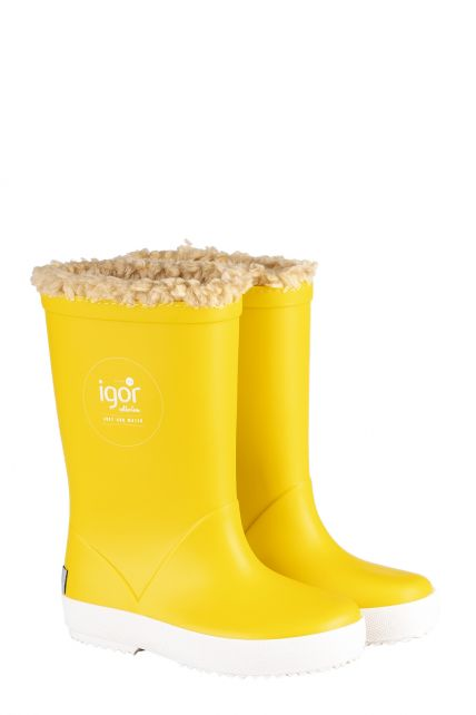 Igor---Rainboots-for-children---Splash-Nautico-Borreguito---Yellow