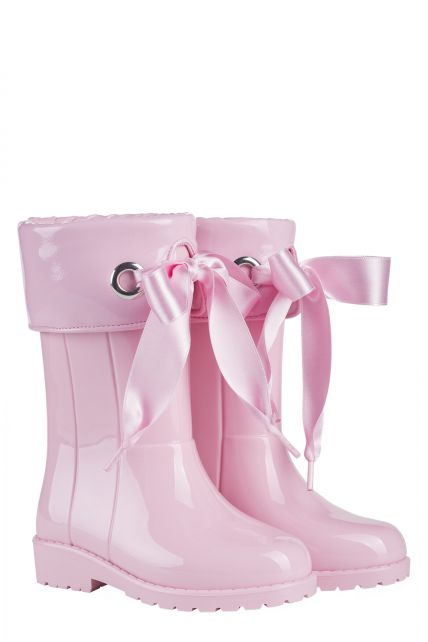 Igor---Rainboots-for-girls---Campera-Charol-high-gloss-with-bow---Pink