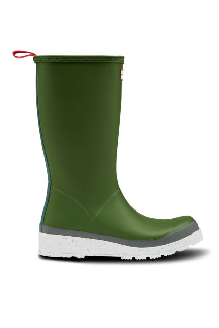 Hunter---Rainboots-for-women---Play-Tall-Speckle-Sole---Scottish-Moss