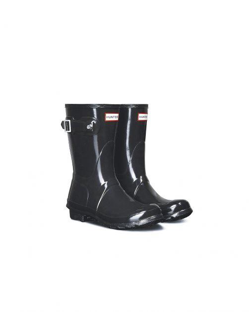 Hunter---Rainboots-for-women---Original-Gloss-Wellingtons---Short---Black