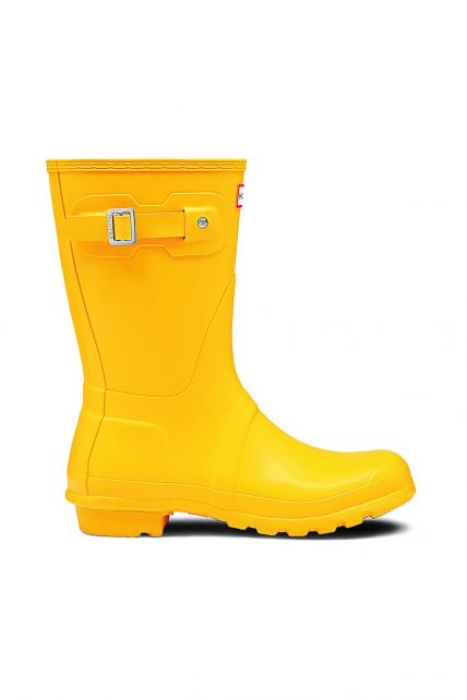 Hunter---Rainboots-for-women---Original-Short---Yellow
