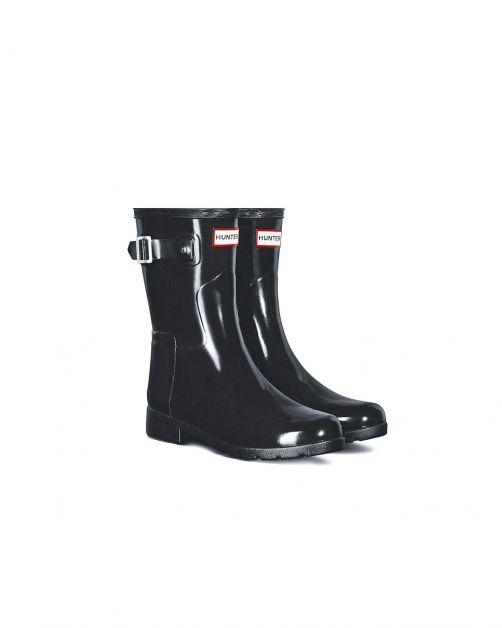 Hunter---Refined-rainboots-for-women---Slim-Fit-Short-Wellington-Gloss---Black