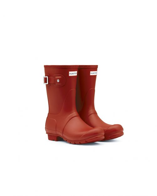 Hunter---Rainboots-for-women---Original-Short---Military-Red